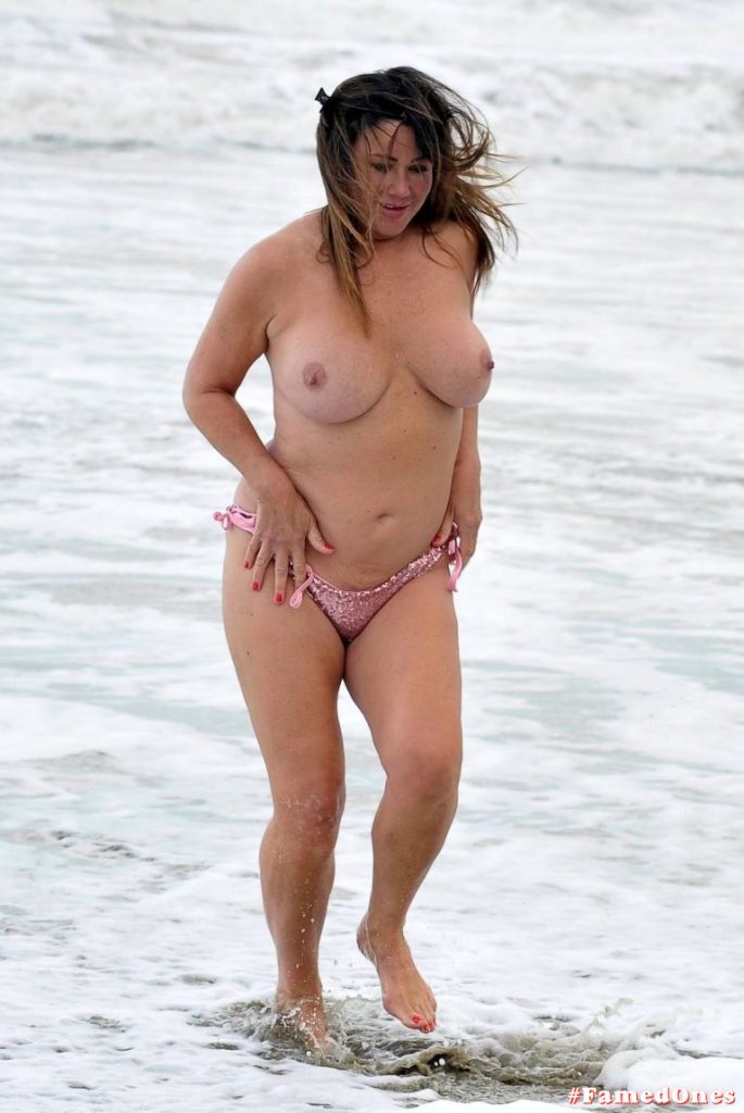 Lisa Appleton windy topless pics FamedOnes.com 072 01