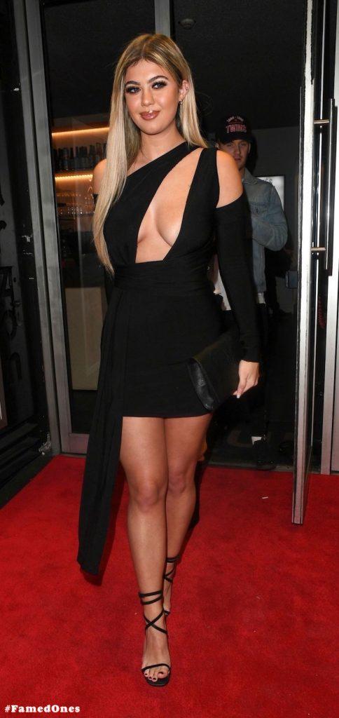 Belle Hassan glam cleavage public pics FamedOnes.com 006 01