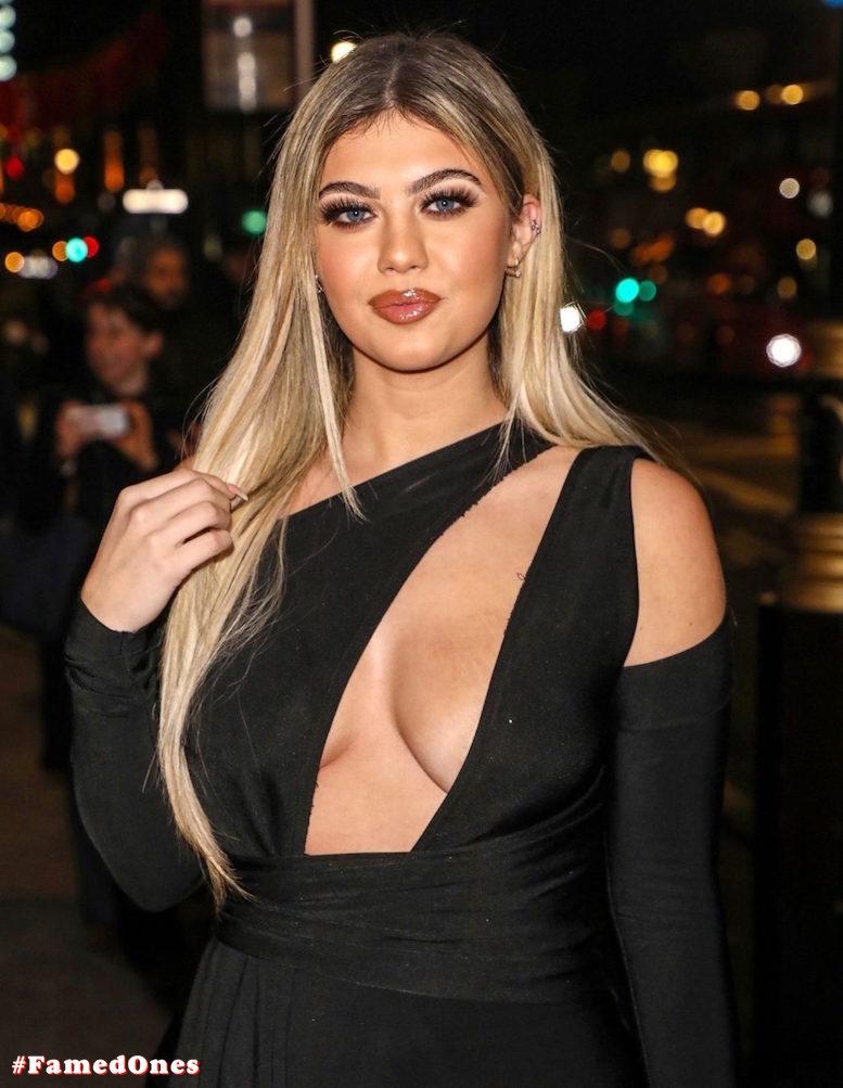 Belle Hassan glam cleavage public pics FamedOnes.com 006 13