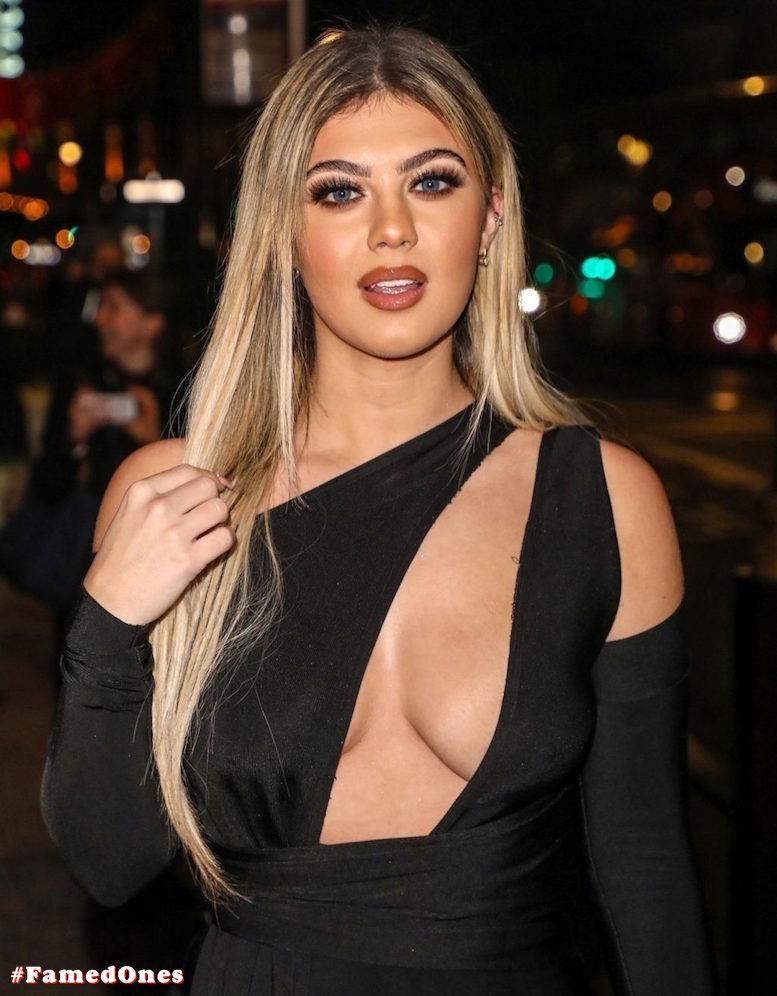 Belle Hassan glam cleavage public pics FamedOnes.com 006 14