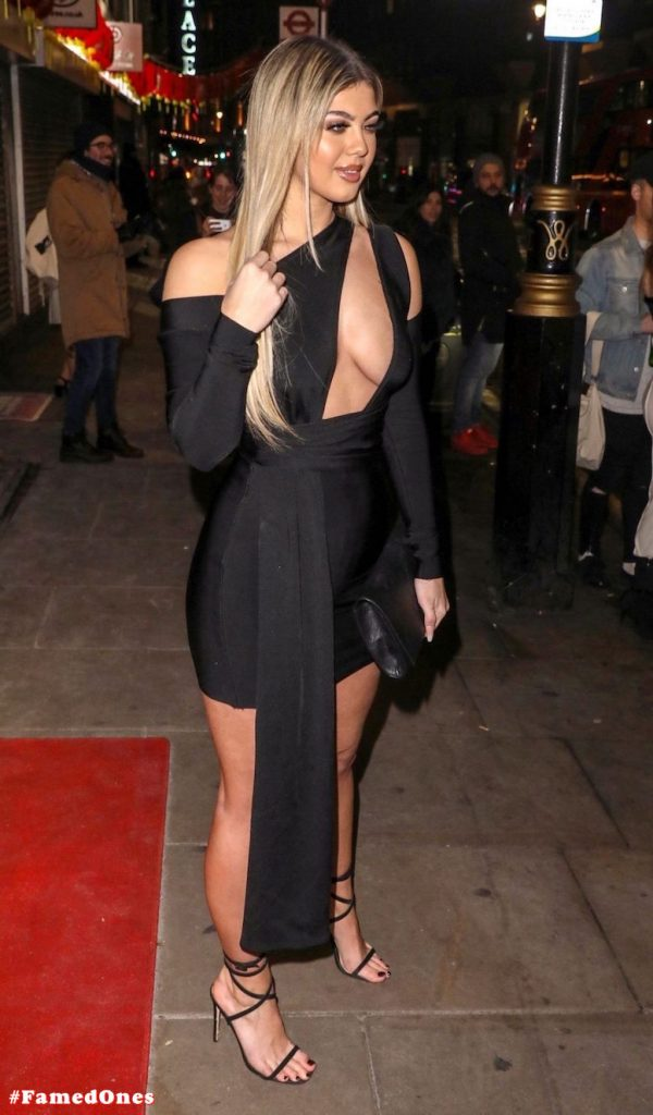 Belle Hassan glam cleavage public pics FamedOnes.com 006 15