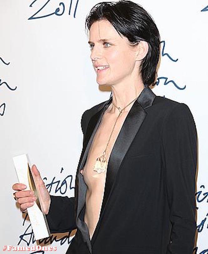 Stella Tennant tit slip public pics FamedOnes.com 002 04