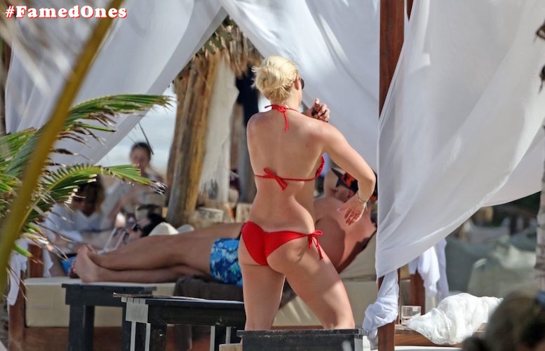 Mandy Rose hot red bikini fappening paparazzi pics FamedOnes.com 001 08
