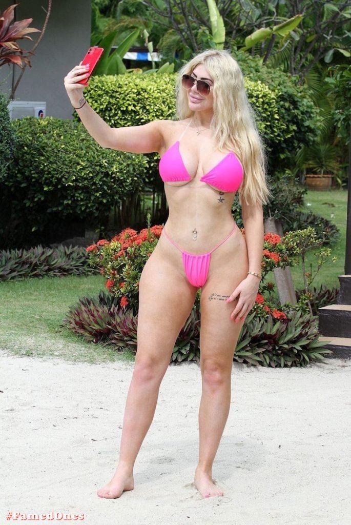 Chloe Ferry hot pink bikini fappening pics FamedOnes.com 074 05