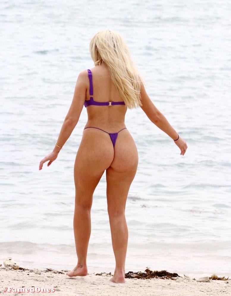 Chloe Ferry underboob sexy violet bikini fappening pics FamedOnes.com 075 03