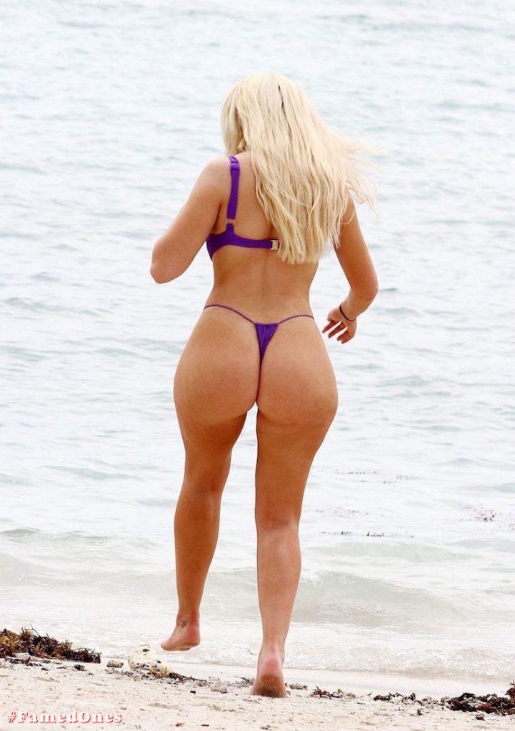 Chloe Ferry underboob sexy violet bikini fappening pics FamedOnes.com 075 06