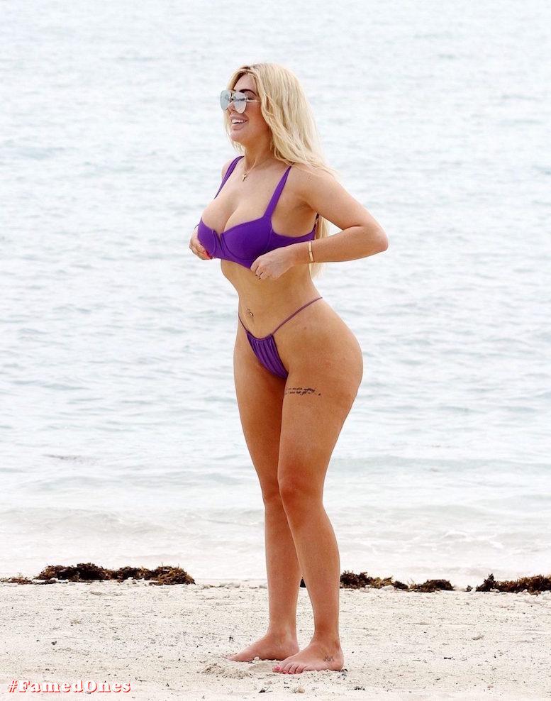 Chloe Ferry underboob sexy violet bikini fappening pics FamedOnes.com 075 14