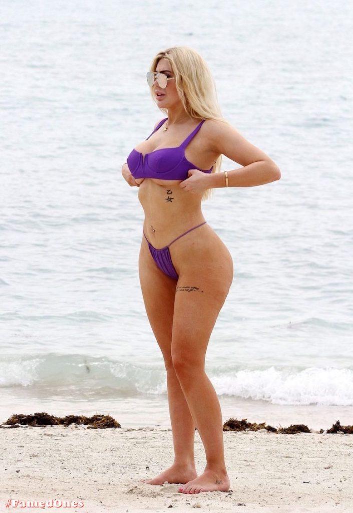 Chloe Ferry underboob sexy violet bikini fappening pics FamedOnes.com 075 16