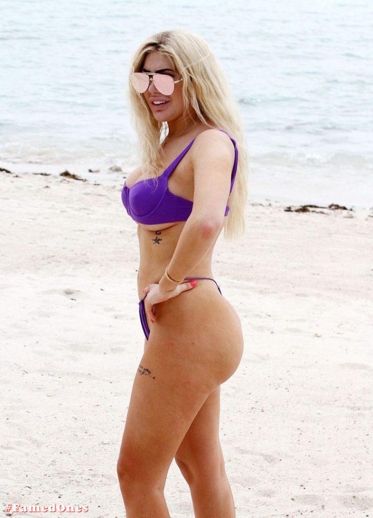 Chloe Ferry underboob sexy violet bikini fappening pics FamedOnes.com 075 17